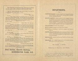 Advert for the South London and General Property Register, reverse side